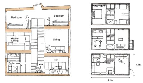 Floor Plan For Two Bedroom Apartment muji s latest home designed for narrow urban spaces