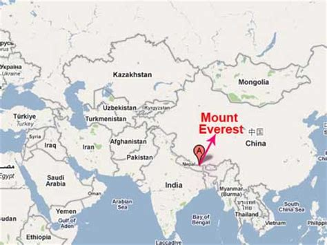 where is mt everest on a world map the location of mount everest bed mattress sale