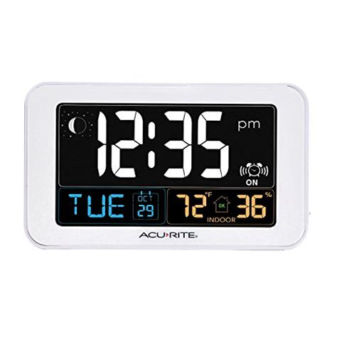 acurite 13040 intelli time alarm clock with usb charger indoor temperature and ebay