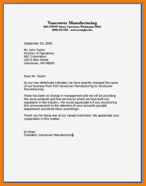 Business Letter Format Letterhead 5 Exles Of Business Letterhead Mailroom Clerk