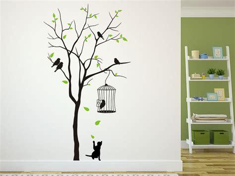 Schlafzimmer Wanddeko 2754 by Wandtattoo Baum Mit Vogelk 228 Fig Wandtattoo De