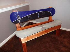 bench snowboard snowboard bench tables chairs armchairs pinterest