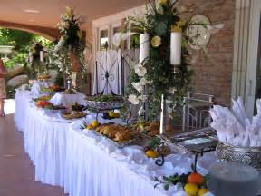 Buffet Table Centerpiece Buffet Table Decorations Pictures White