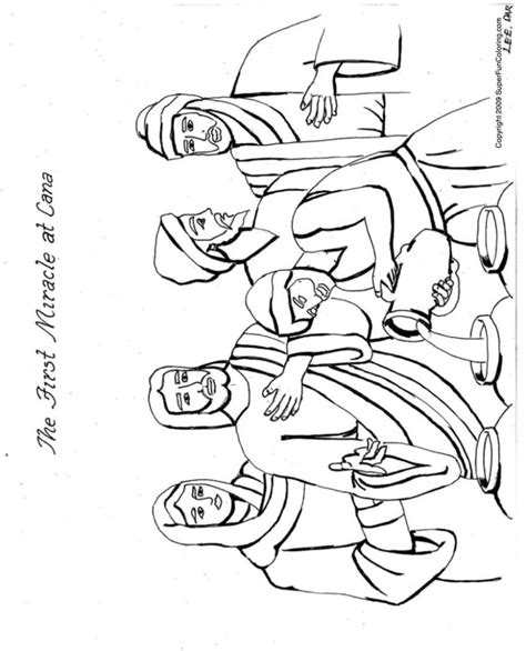 Coloring Pages Jesus First Miracle | christian coloring pages free bible coloring sheets
