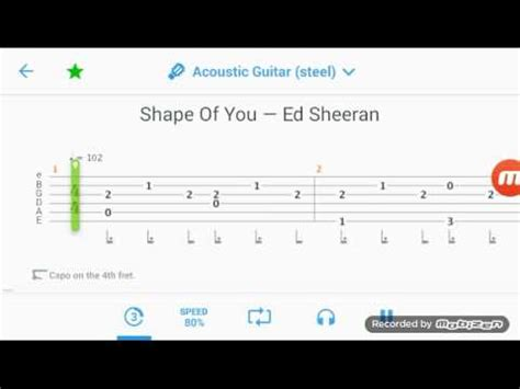 ed sheeran of you ed sheeran shape of you guitar tabs youtube
