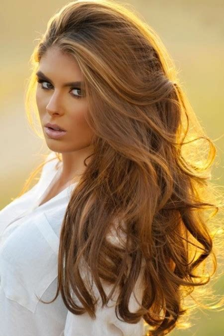 perfect hair color for brown eyes beautiful wavy bouncy brown hair perfect hairstyle for