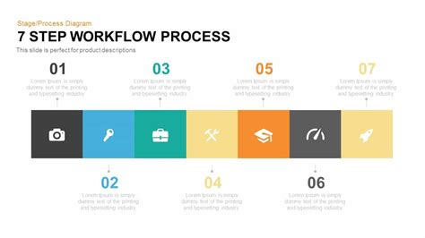 7 step workflow process powerpoint keynote template