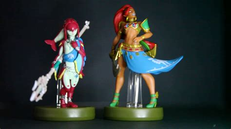 Amiibo Mipha The Legend Of Breath Of The unboxed mipha urbosa chion amiibo breath of the nintendo switch wii u