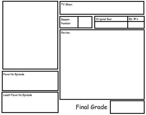 Tv Show Season Review Template By Ragameechu On Deviantart Show Template