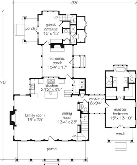dreamy home coastal living cottage of the year house plans with attached 3 car garage guest house plans