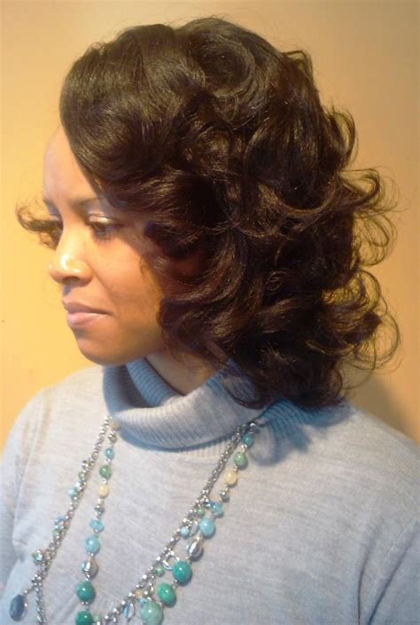 Roller Wrap Hairstyles For Black Women Pictures | photos of women with short wrap hairstyle hairstyle gallery