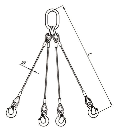 manipulacion de cadenas en c eslingas de cable de 4 ramales stas iberica