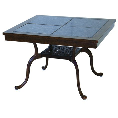 patio end table darlee classic cast aluminum patio end darlee series 77 cast aluminum patio end table with