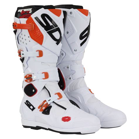 sidi crossfire motocross boots sidi new mx crossfire 2 srs eu white orange ktm