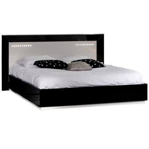tete de lit noir laque