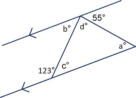 angles between parallel lines worksheet column a