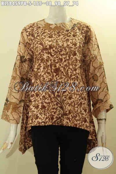 Atasan Batik Belakang model baju batik wanita atasan terbaru blouse kancing