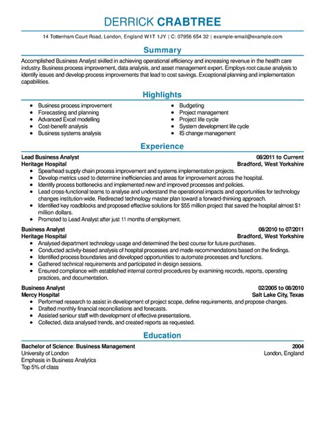 Business Analyst Resume Summary Examples by Free Resume Examples By Industry Job Title Livecareer 59
