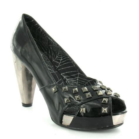 new rock m5003 s1 womens vegan construction studded patent