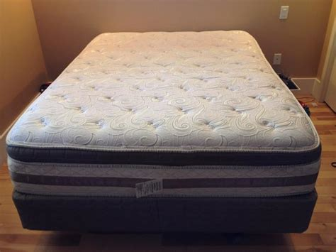 pillow bed frame queen bed with pillow top mattress box spring metal