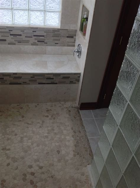 shower pan with bench seat barrier free ready for tile shower base and shower bench