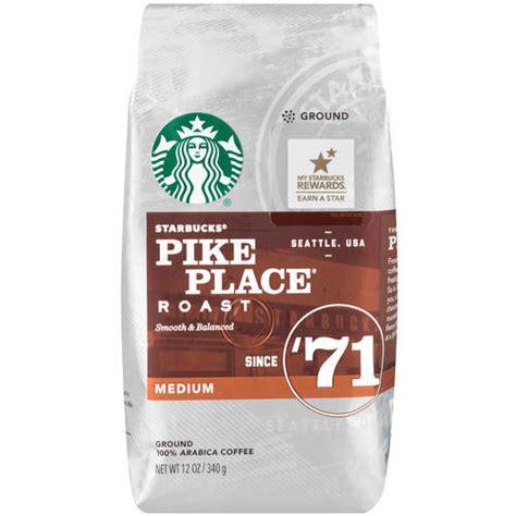 Starbucks Pike Place Roast Ground Coffee, 12 oz   Walmart.com