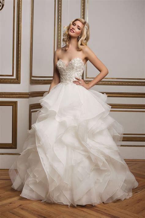 beaded bodice tulle skirt wedding dress style 8845 beaded bodice and organza ruffle skirt wedding