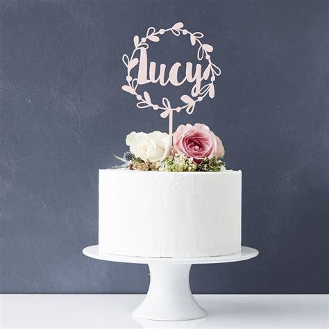 personalised floral  cake topper  sophia victoria joy notonthehighstreetcom