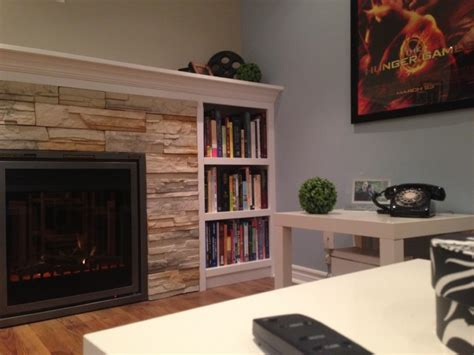 Electric Fireplace Basement by Basement Family Room Custom Built Bookcase And Electric