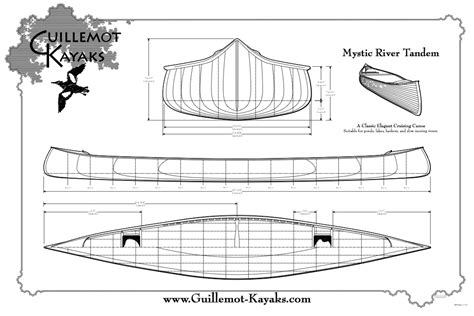 making blueprints mystic river tandem canoe plans guillemot kayaks small