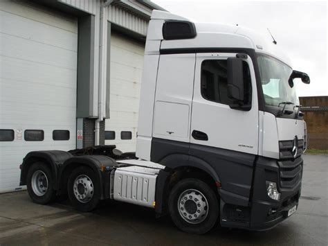 mercedes truck white mercedes actros 2545ls tractor unit bell truck and