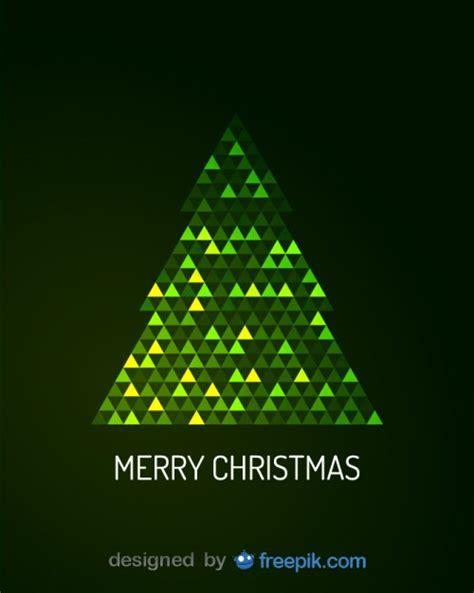 digital christmas tree merry greeting card of digital tree vector free
