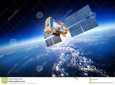 satelite  espaco sobre  terra  planeta foto de stock