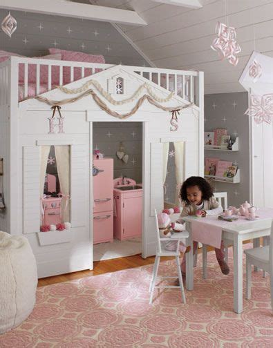 storybook cottage loft bed red love this idea a loft bed designed to look like a