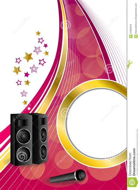 imagenes graciosas karaoke background abstract karaoke microphone loudspeaker star