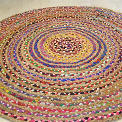 circle jute rug coloured cotton with jute circle rug rugsite