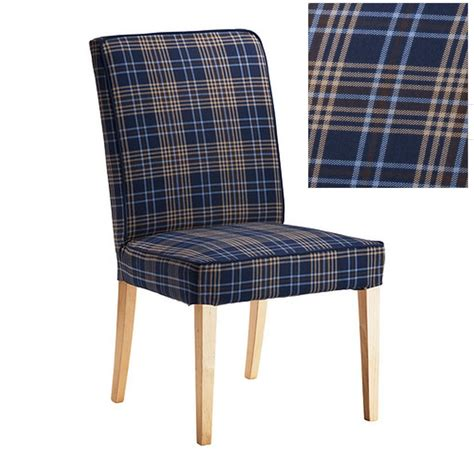 plaid slipcover ikea henriksdal rutna multicolor blue plaid chair