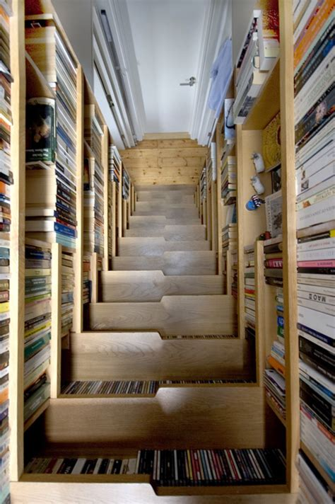bookcase as stairs