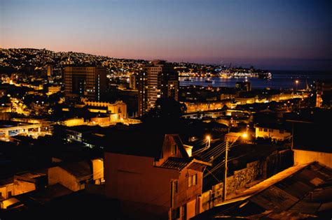 by night in chile valparaiso chile at night entouriste