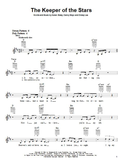 printable lyrics to keeper of the stars by tracy byrd the keeper of the stars sheet music direct
