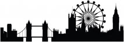 Cityscape Wall Stickers city skyline silhouette wall sticker paris london new