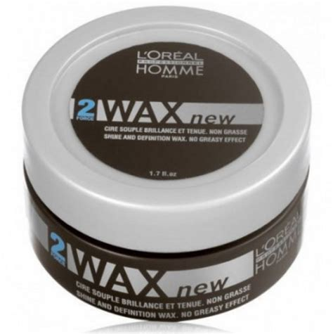 Loreal Homme Wax 50ml cire de brillance wax 50 ml fixation souple l or 233 al homme