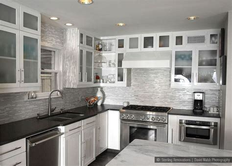backsplash for black and white kitchen black and white design kitchen backsplash tile horner h g