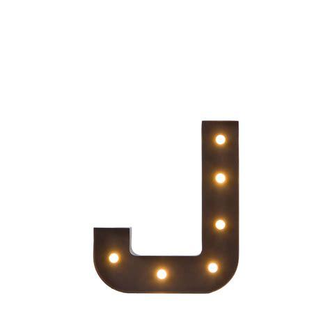 illuminazione decorativa illuminazione metallica decorativa lettera j