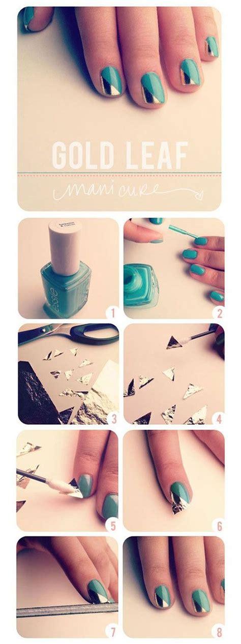 nail art leaf tutorial easy nail art picmia