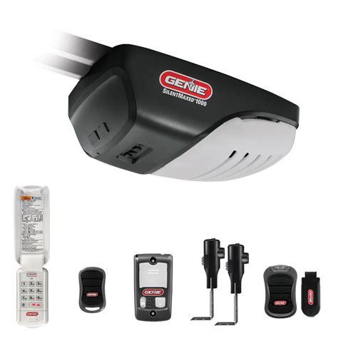 genie silentmax 1000 light silentmax 3 4 hp dc motor belt drive garage door opener