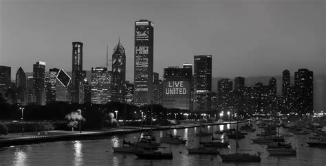 skyline wallpaper black and white chicago skyline black and white at night www imgkid com
