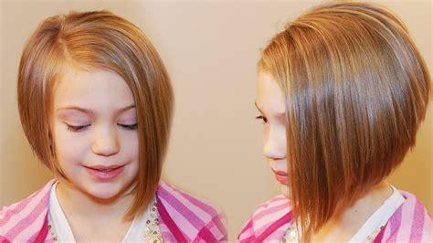 girl hairstyles tutorial how to cut an asymmetrical a line girls hair tutorial