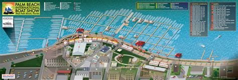 vector illustrated map illustrated boat show map