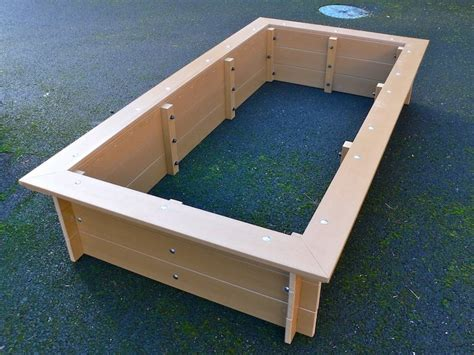 plastic raised garden beds delux raised bed with seat surround recycled plastic 2